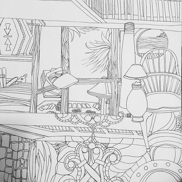 My super duper relaxing Sunday in #bodegabay Thanks @jenn and Jim for hosting us #drawing 182. #coloringbook #100daysofdrawingarabesque #blog #bayarea #art