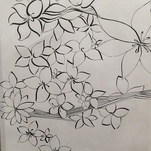 I will #keep #drawing til I reach #drawing365. This is 201. Testing the #pilotparallelpen in #florals. #ink #blog #art #arabesque #SF