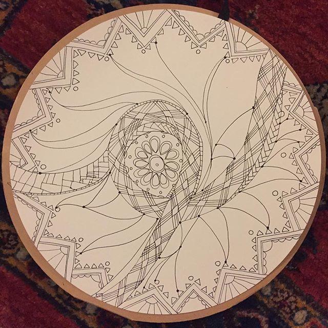 #disk #drawing 227 inspired by #santafe #newmexico #winter travel. #drawing365 #drawingoftheday #cbdrawaday #creativebug #blog #nm #pattern #worldofartists using #muji #sketchbook
