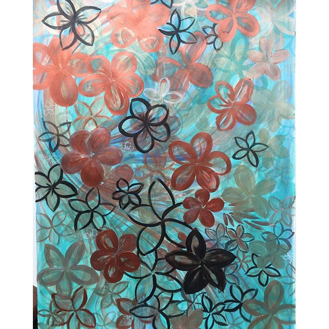 Took a while to finish #painting/ #drawing 230 using a mixture of #sumi #ink & #metallic #acrylic and #watercolor paints on paper Not sure how much I like these #florals yet but this is the #dyptique to 239. #blog #SF #creativebug #artspix #arabesque
