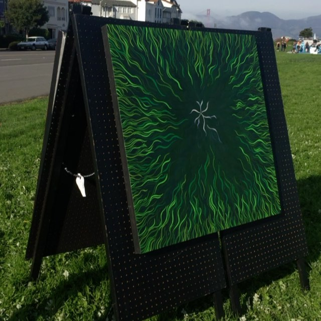We r open for biz on the #marina #greens! Showing #art with my peeps of #sf #artitstguild #artists #paintings #hangout #blog #saturday #atoundtown