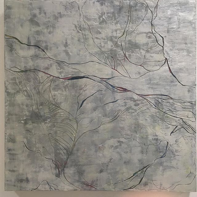 This is the second of the Seams of the Fog series. First one was an acrylics painting, but this is now #encaustics #blog
